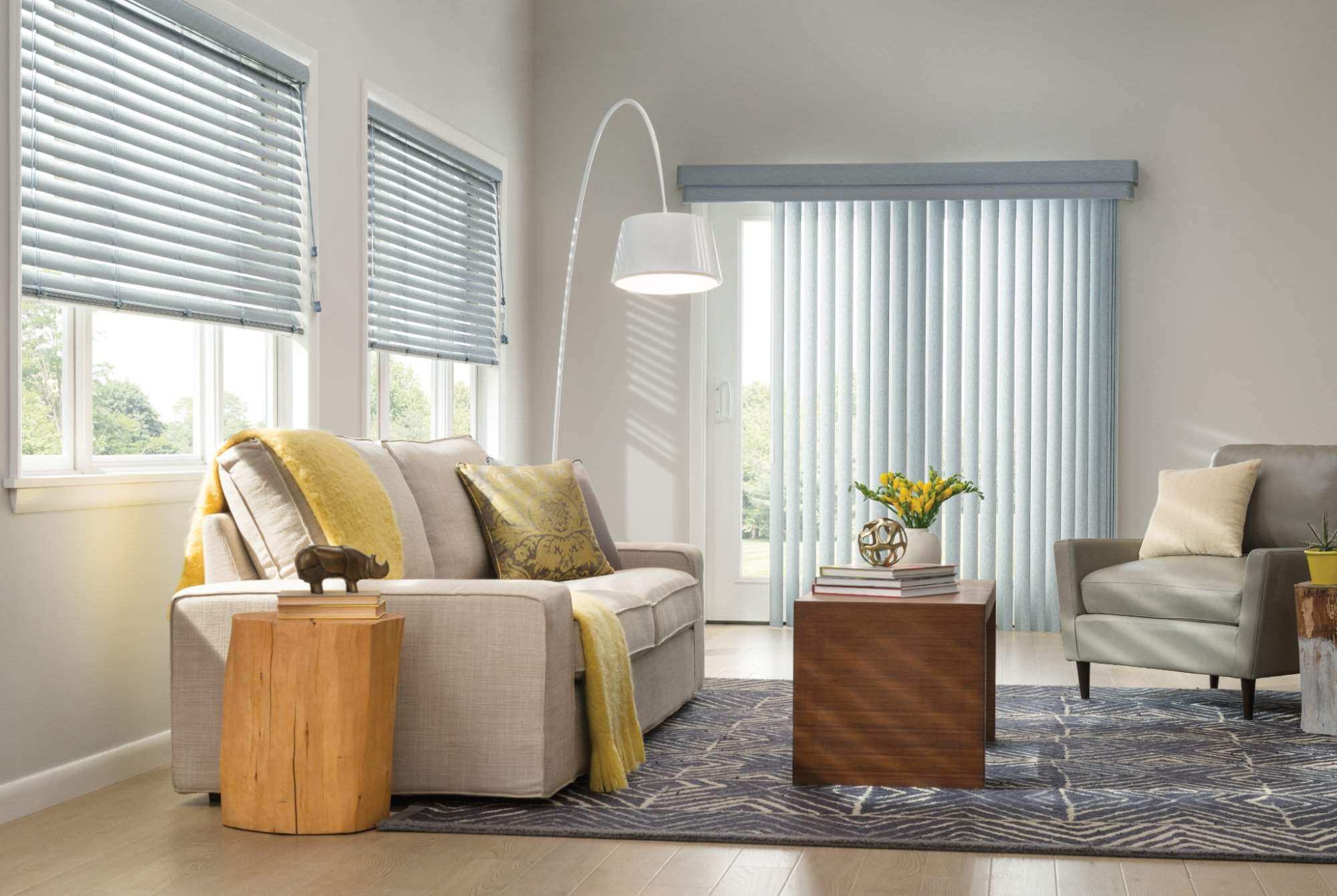 Vinyl Vertical Blinds with Wand Control