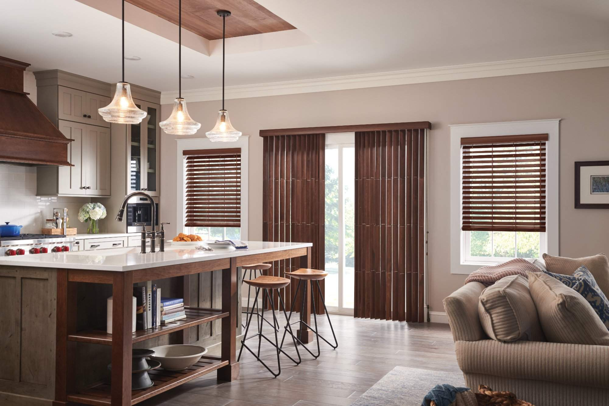 Wood Vertical Blinds with Cord and Chain