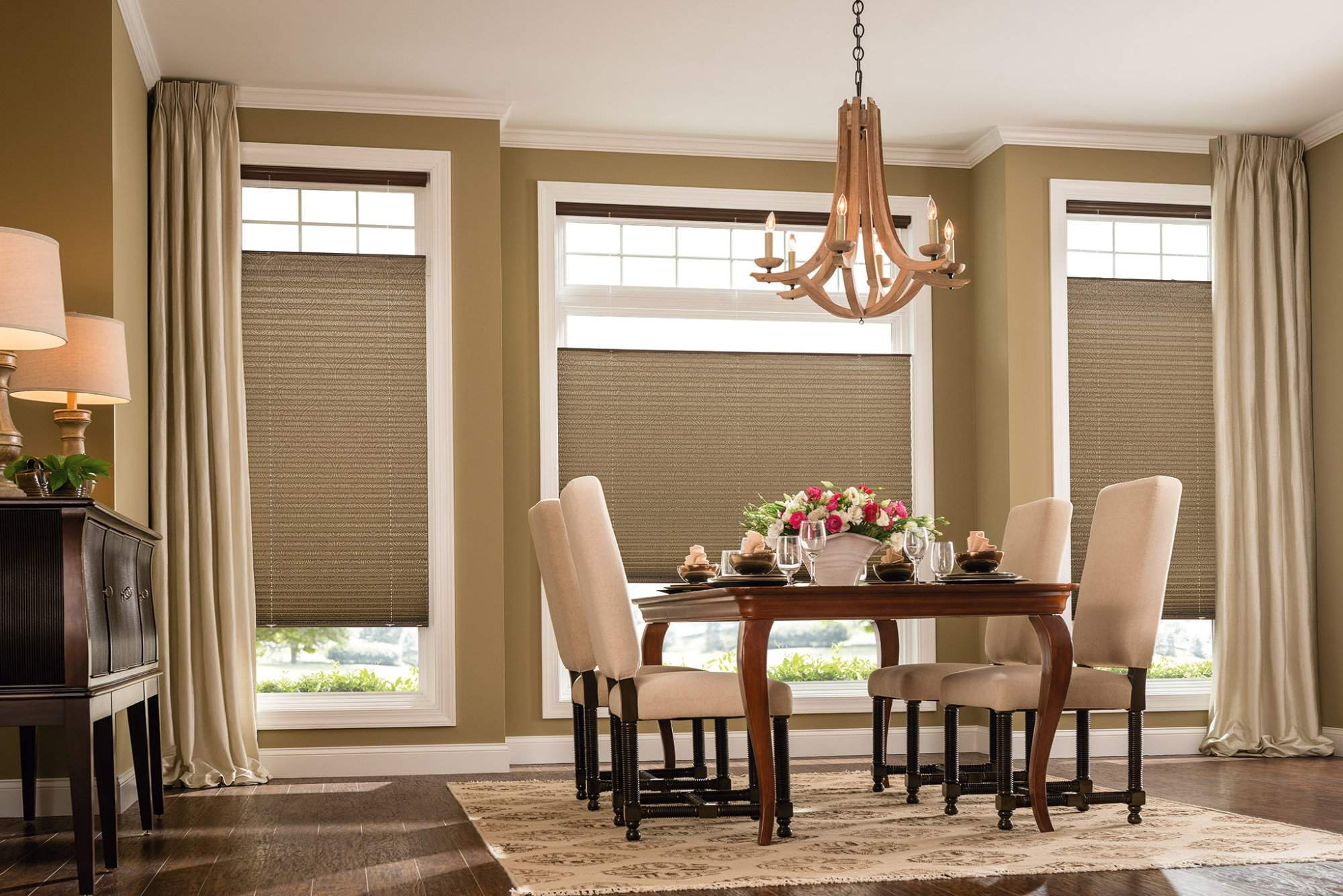 Bottom UpTop Down Pleated Shades