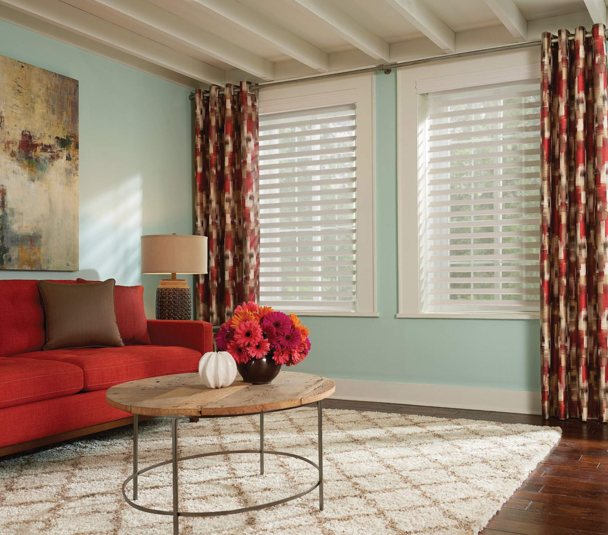 Sheer Shades with Continuous-Loop Lift