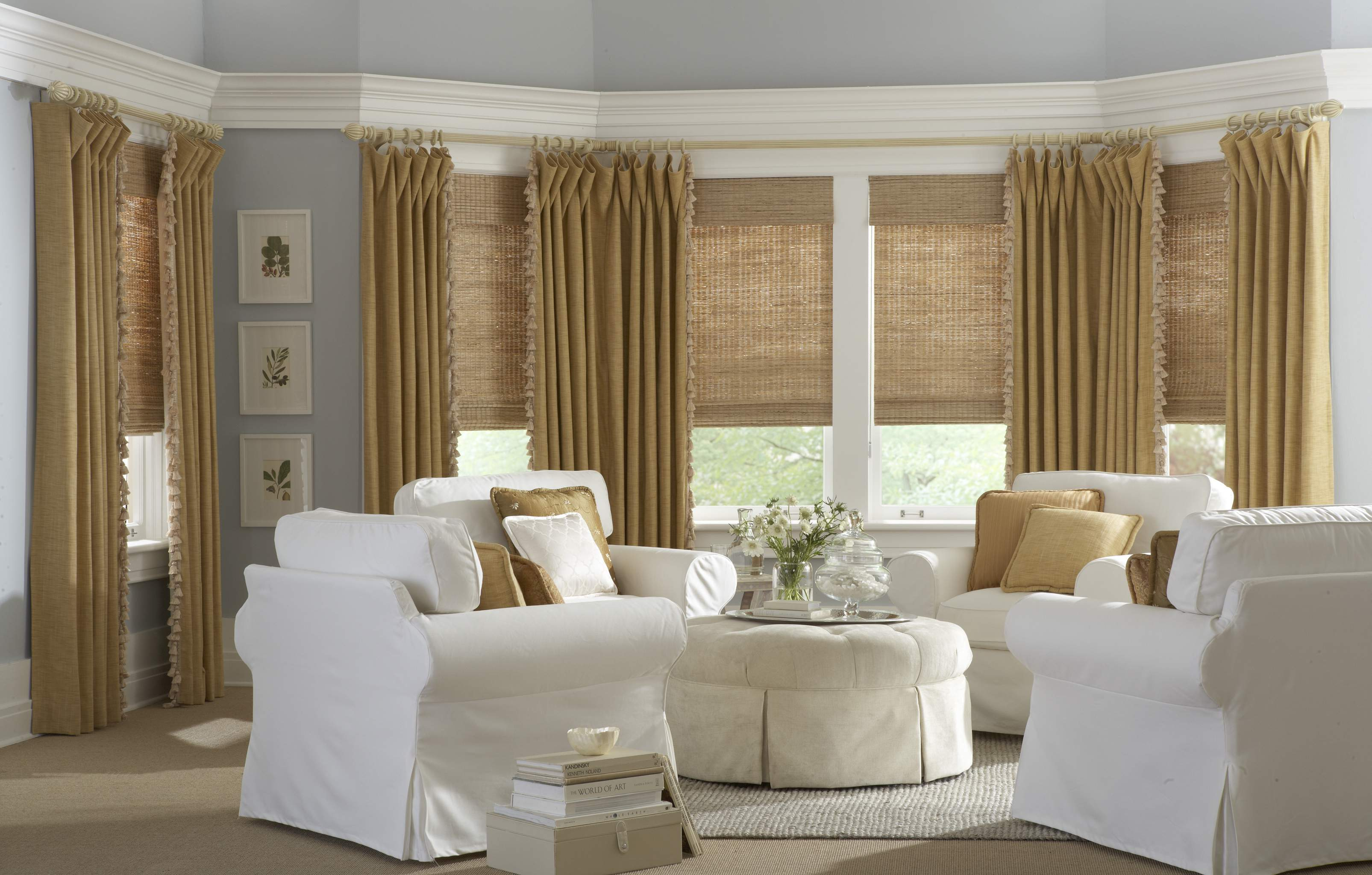 HORIZON WOVEN WITH DRAPERY PANEL WITH TRIM